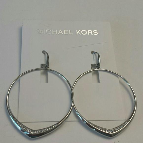 6d763f1f610f3 Michael Kors NWT Silver Hoop Earrings NWT